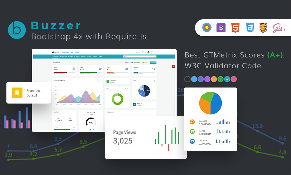 Buzzer - Ultimate Bootstrap 4 Admin and Ui Kit