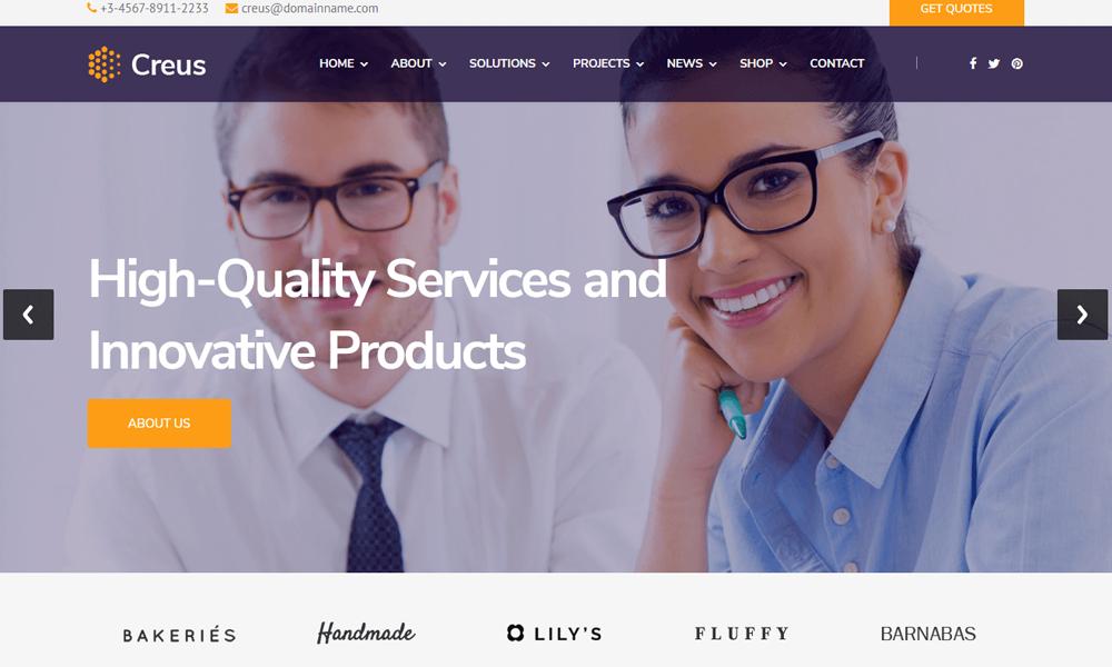 Creus - Consulting, Finance, Business Joomla Template