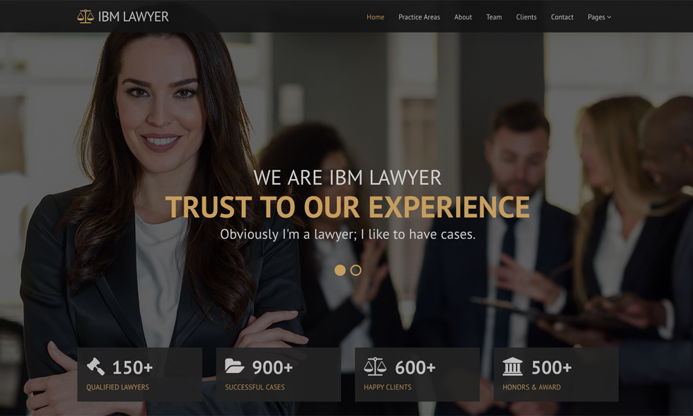 IBM LAWYER - Bootstrap HTML5 Template