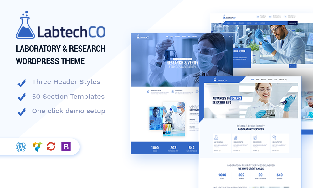 LabtechCO | Laboratory & Research WordPress Theme
