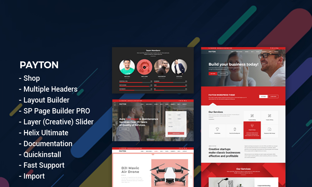 Payton - Multipurpose Business Responsive Joomla Template