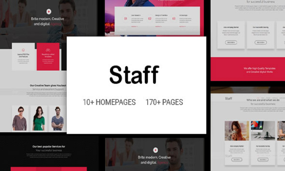 Staff - Responsive Business Multi-Purpose Joomla Template with Page Builder