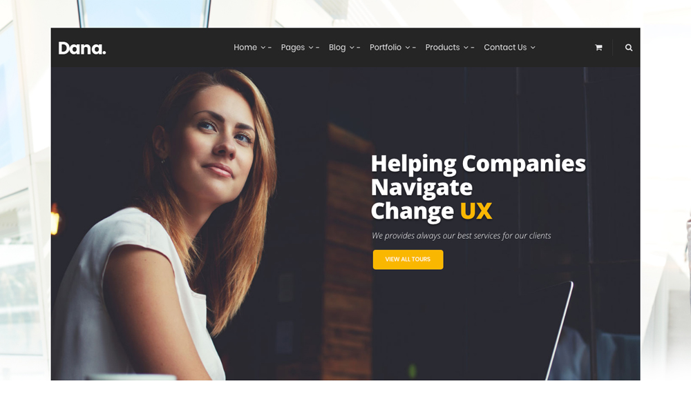 Dana - Corporate Business Multi-Purpose Responsive Joomla Template with Page Builder
