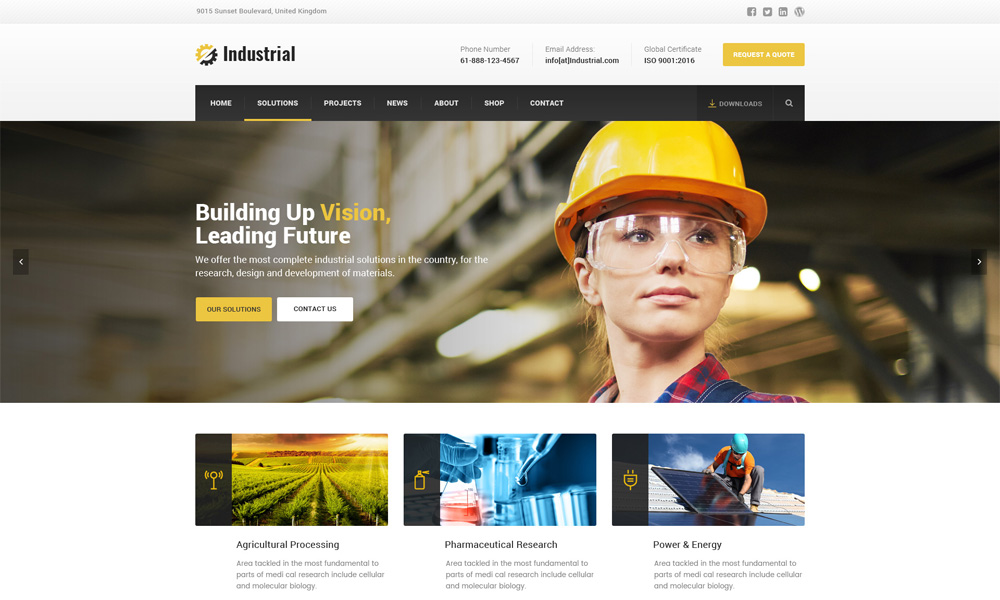 Industryall - Industrial WordPress Theme
