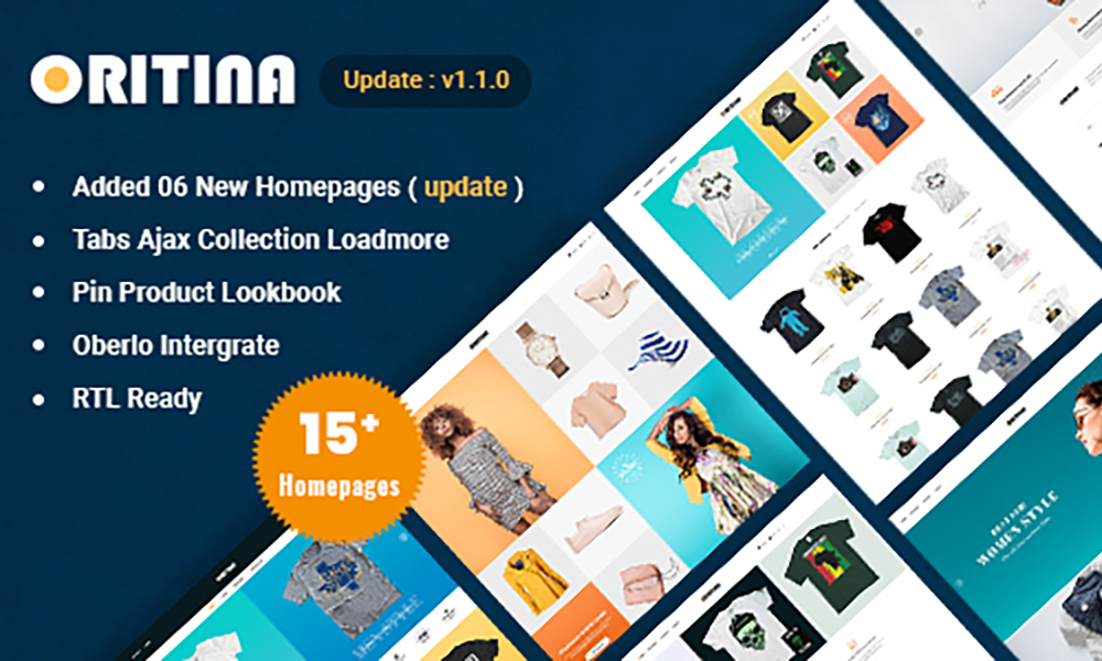 Oritina - Fashion, T Shirt & Accessories Shopify Theme