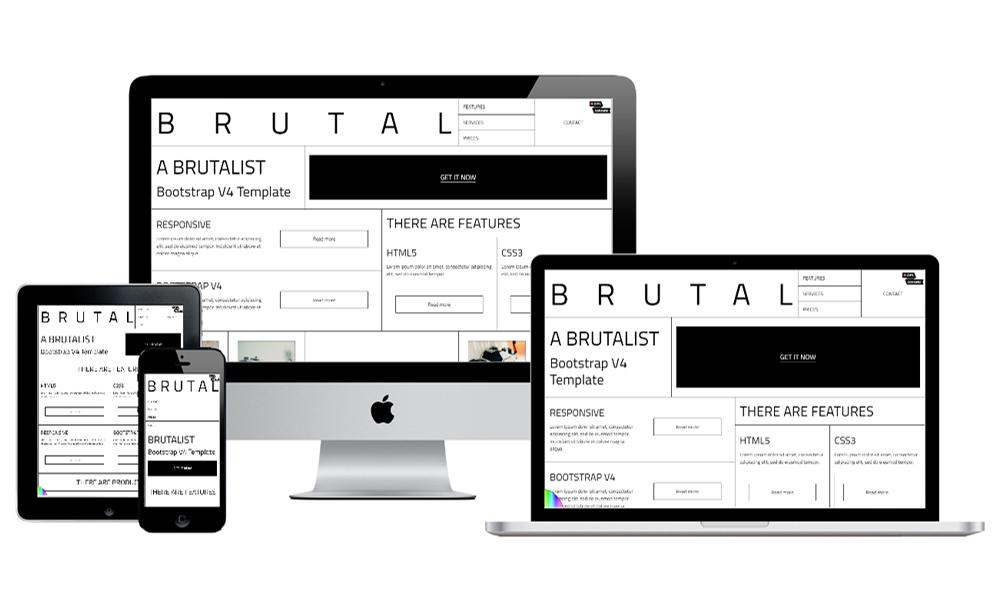 Brutal - A Brutalist HTML Bootstrap v4 Template