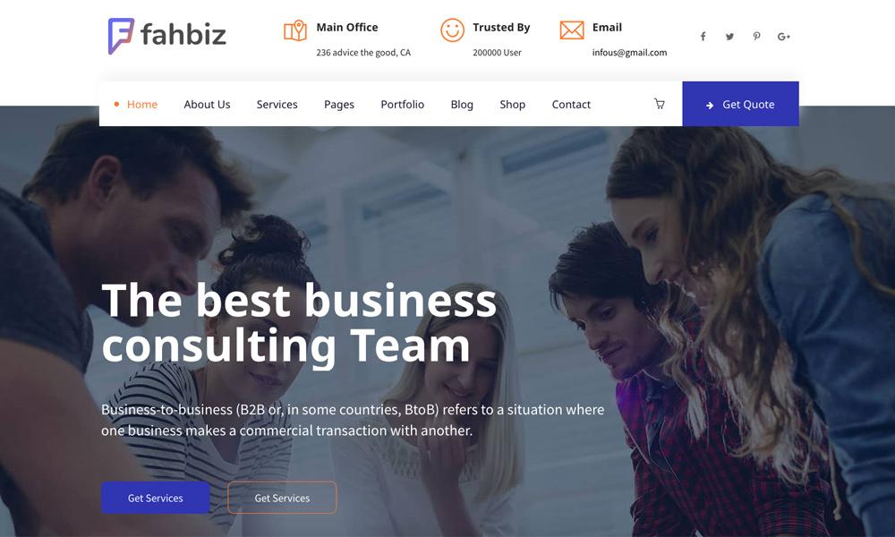Fahbiz - Finance & Business Consulting WordPress Theme