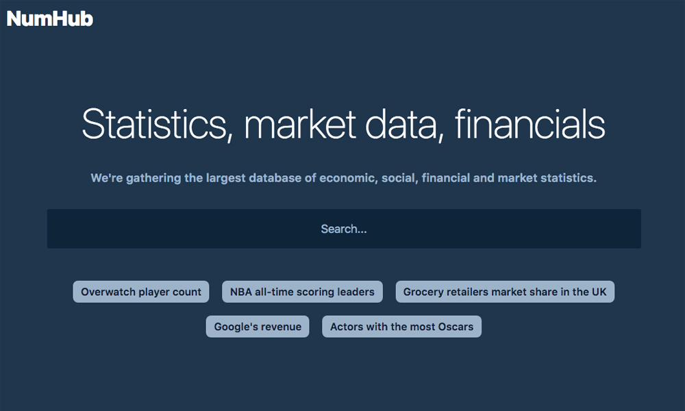 NumHub - Statistics, Market Research, Financials