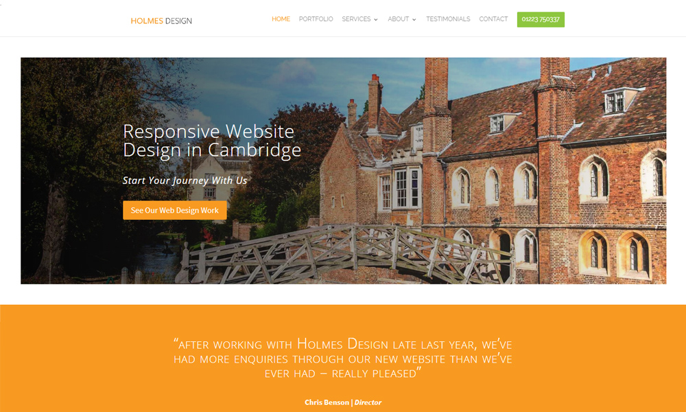 Stephen Holmes Website Design