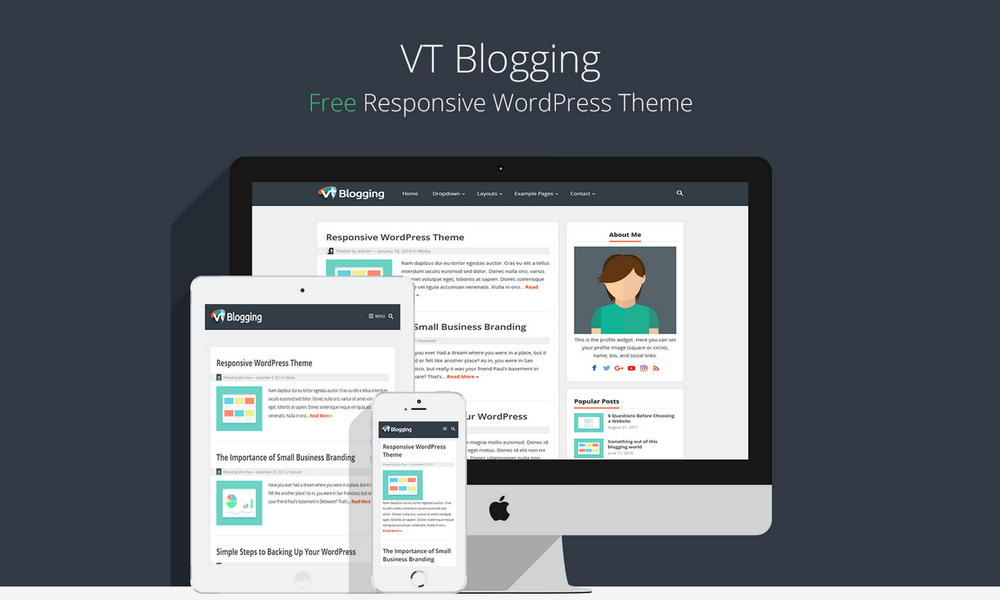 VT Blogging WordPress Theme