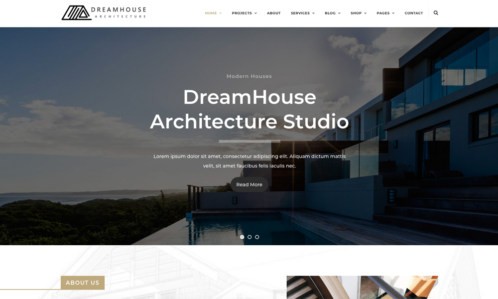 Dreamhouse - Architecture & Interior Design Helix Ultimate Joomla Template