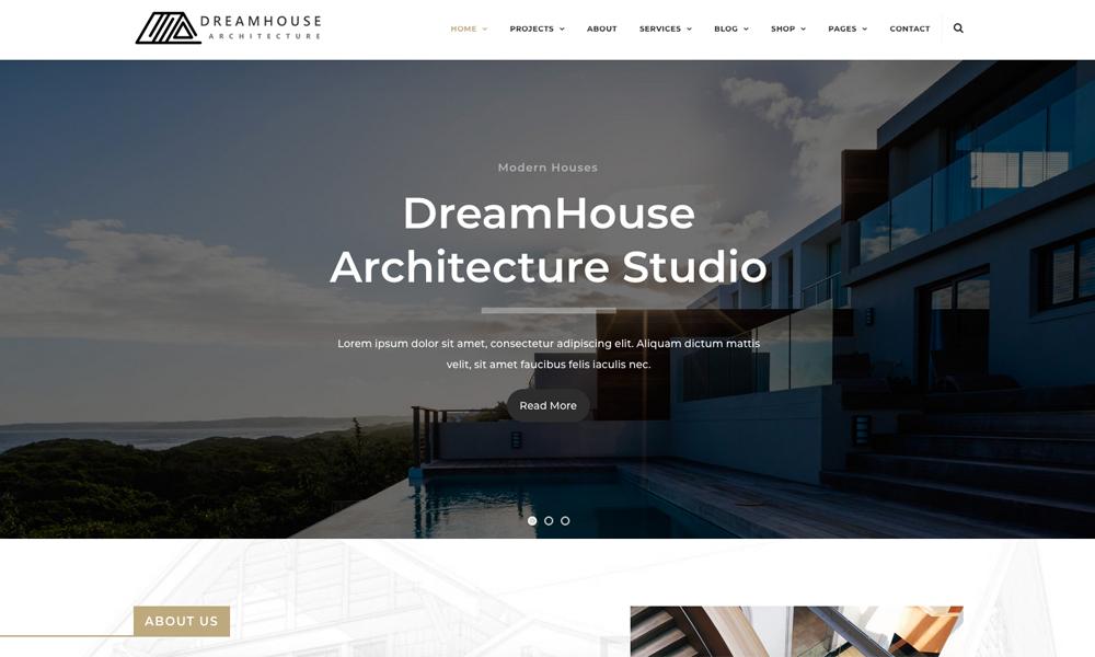 Dreamhouse - Architecture & Interior Design Helix Ultimate Joomla Template