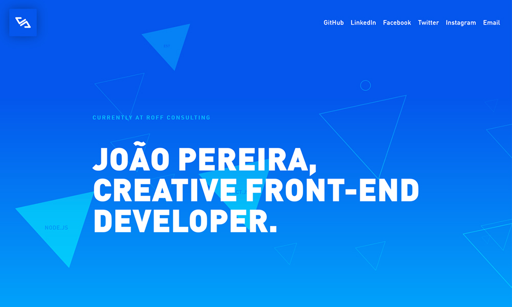 João Pereira - Creative Front-end Developer