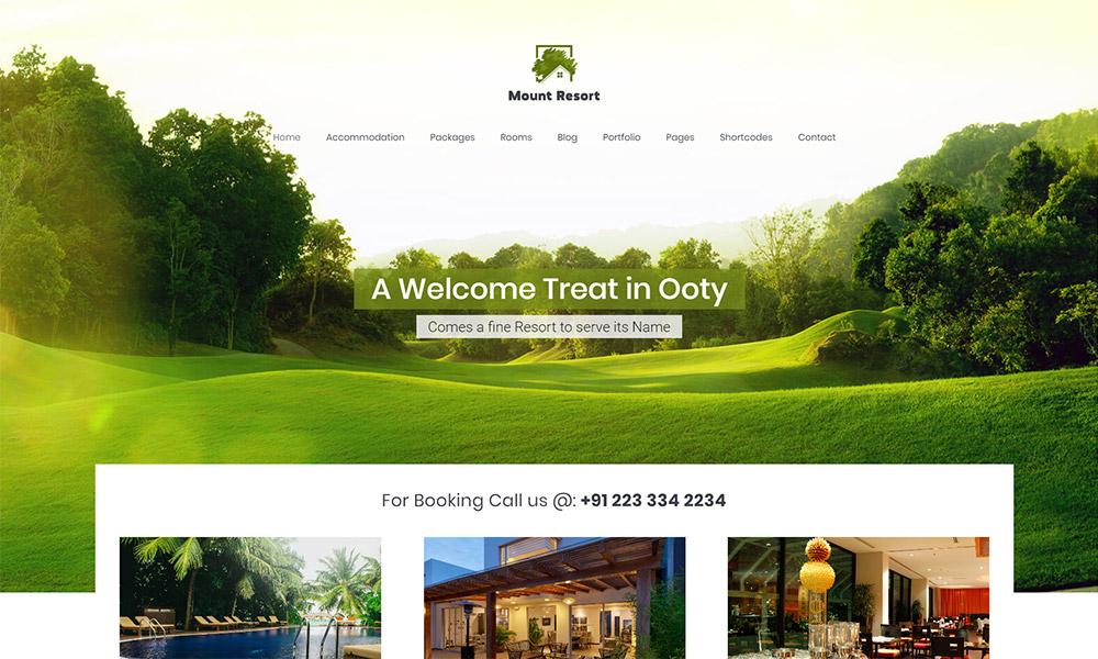 Misty Mount Resort WordPress Theme