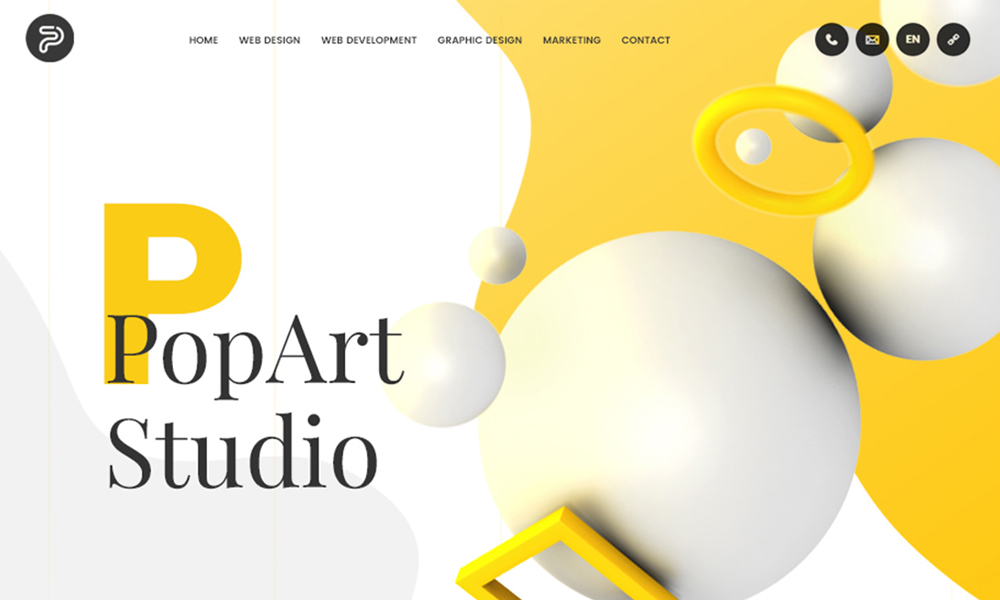PopArt Studio - Web design services