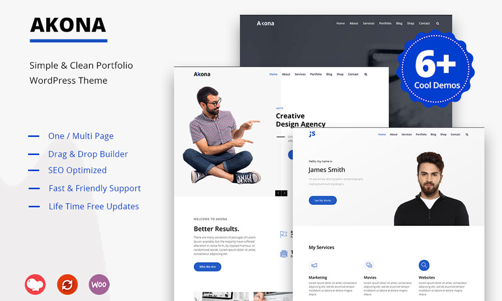 Akona - Simple & Clean Portfolio WordPress Theme