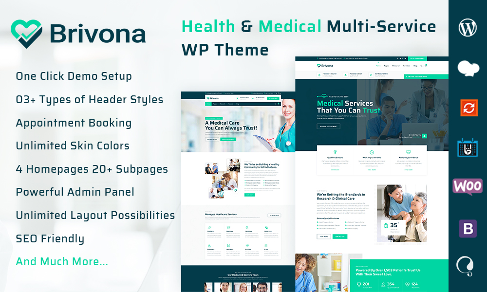 Brivona - Medical, Health and Hospital WordPress Theme