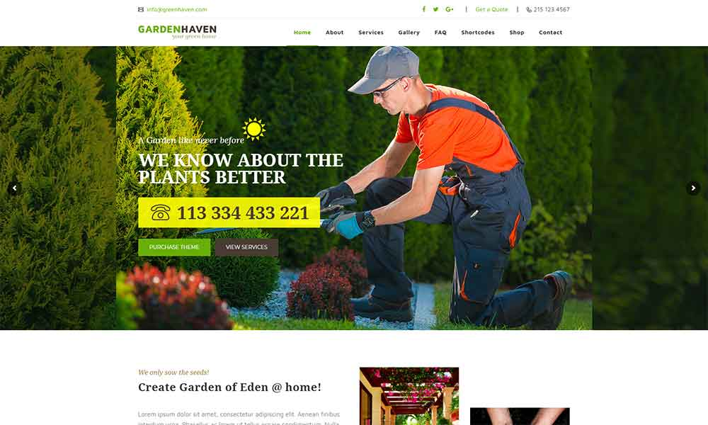 Garden Heaven - Gardening WordPress Theme
