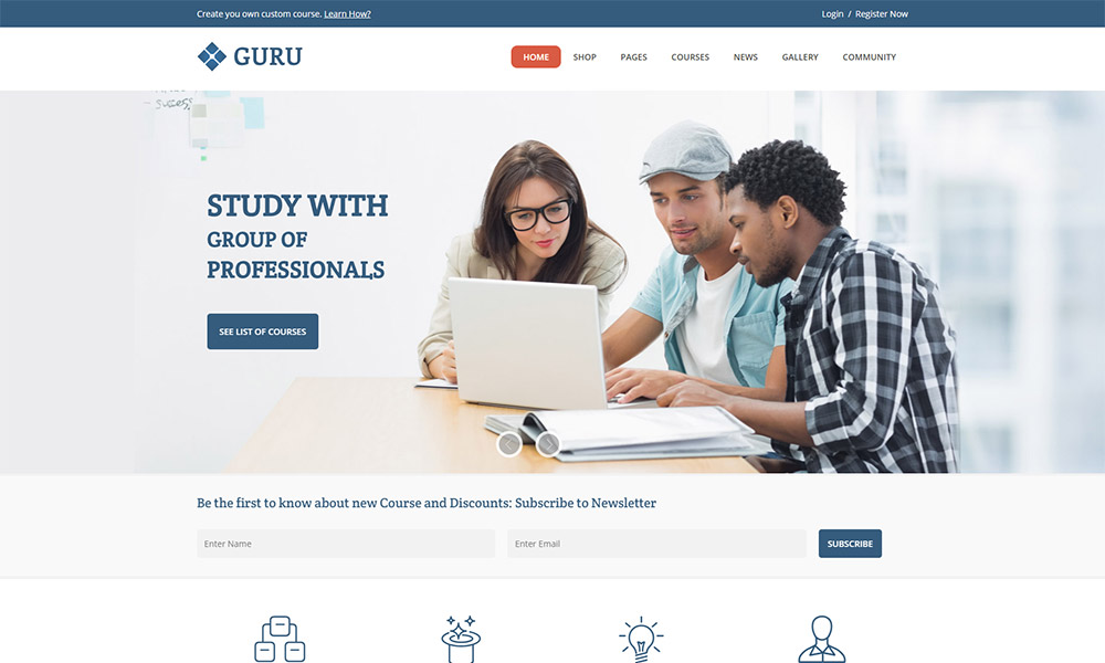 Guru LMS WordPress Theme