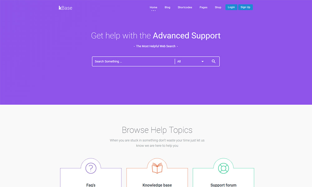 KBase Knowledge Base WordPress Theme