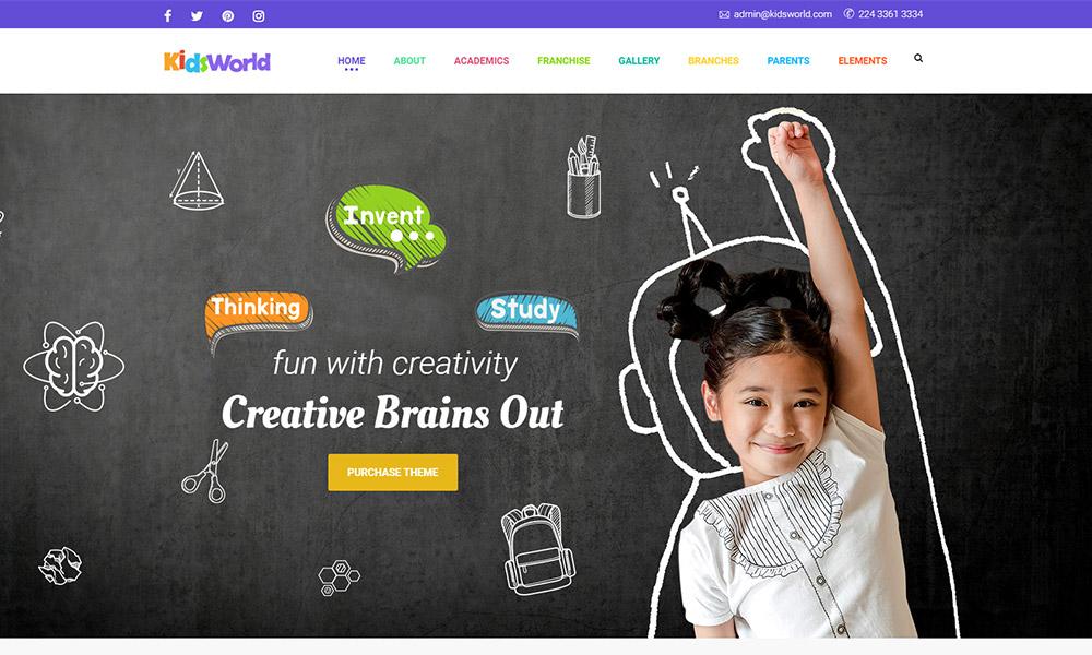 Kids Heaven Children WordPress Theme