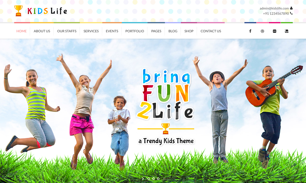 Kids Life Children WordPress Theme