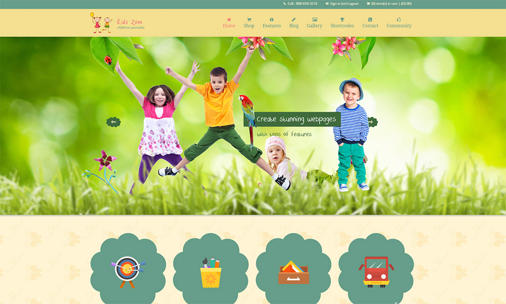Kids Zone Children WordPress Theme