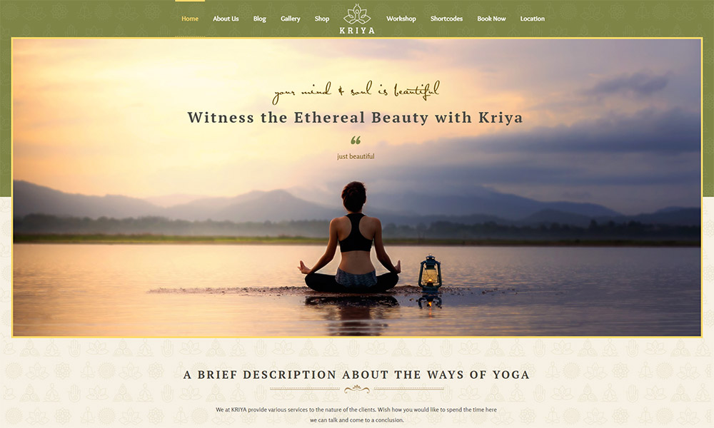 Kriya Yoga WordPress Theme