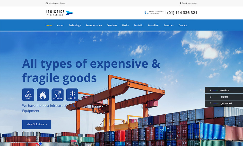 Logistics Transport WordPress Theme