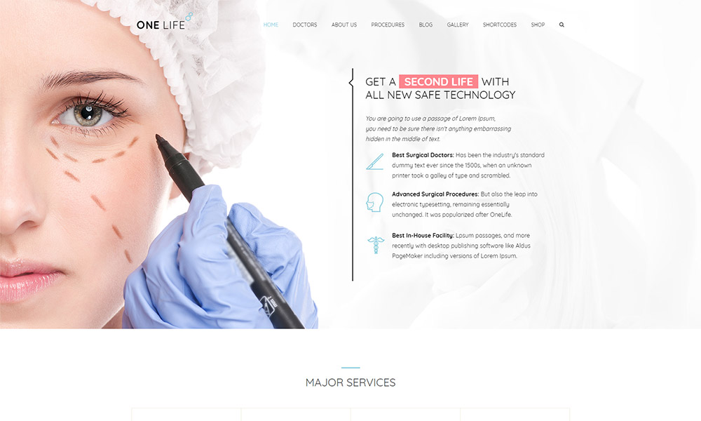 OneLife Medical WordPress Theme