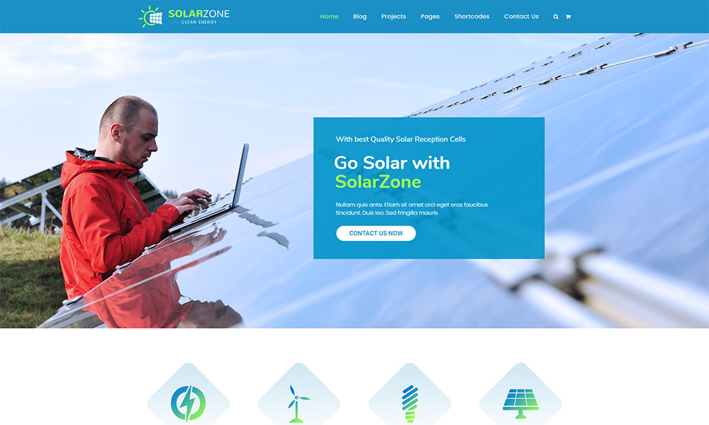 Solar Zone Energy WordPress Theme