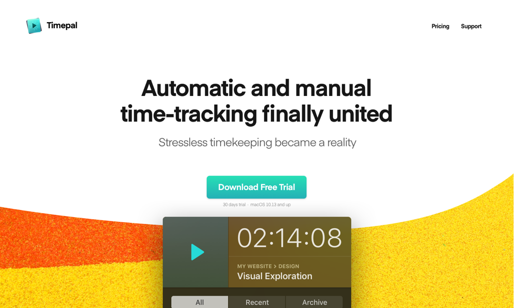 Timepal – Automatic Time-Tracking