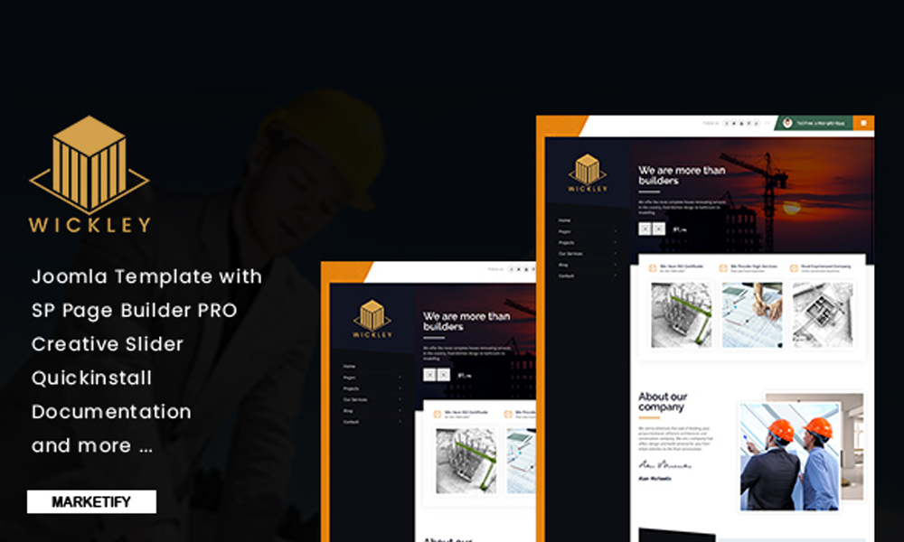 Wickley - Construction, Industry and Factory Joomla Template