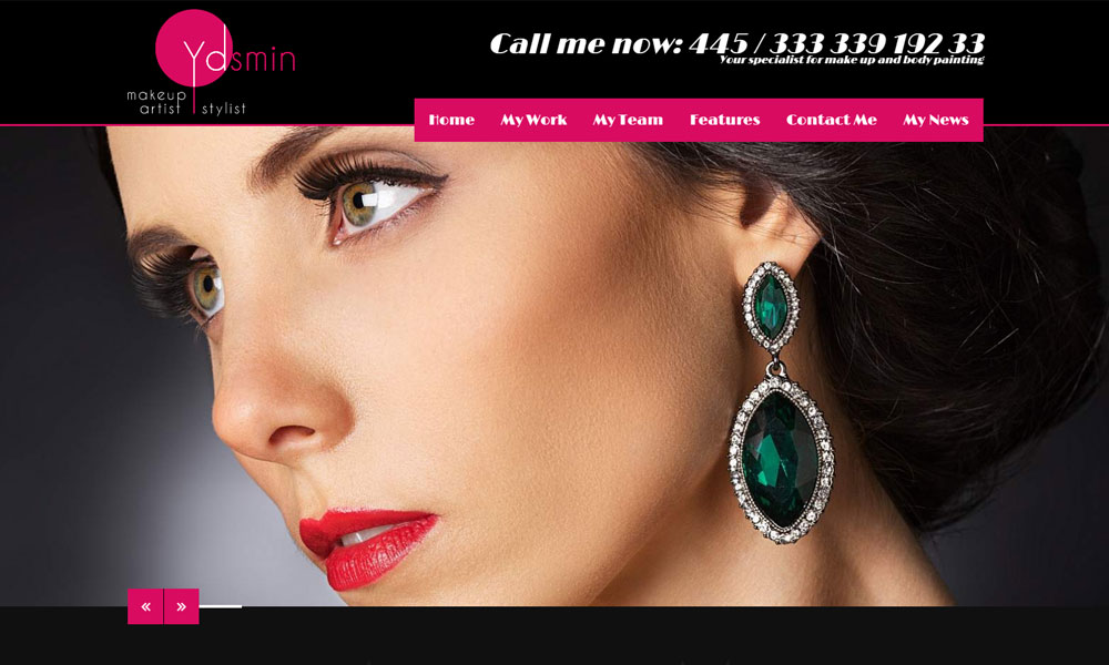 Yasmin - Makeup Artist WordPress Theme