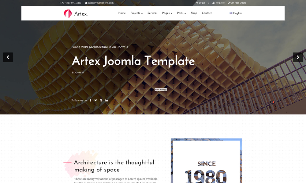 Artex - Architecture Joomla Template