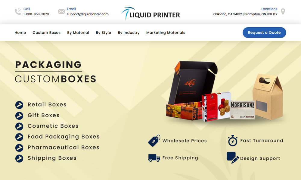 Custom Boxes - Liquid Printer