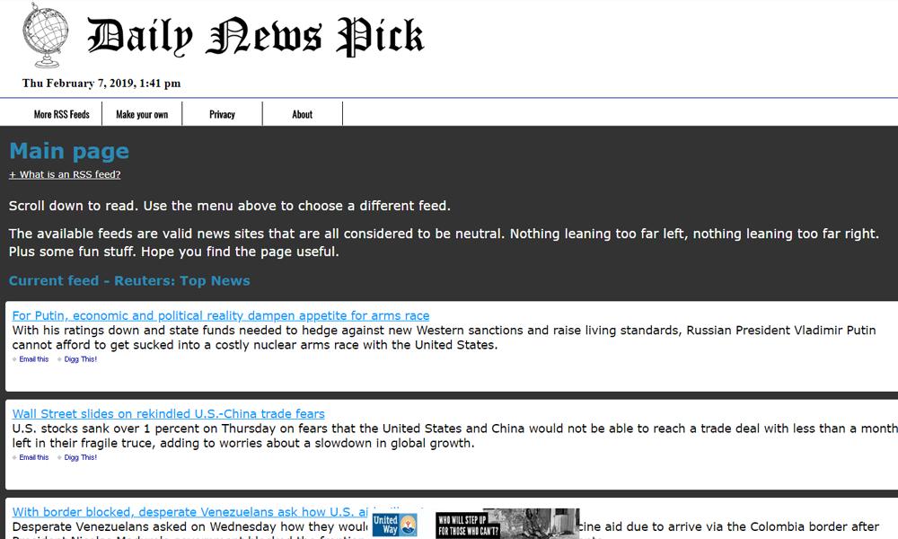 Daily News Pick