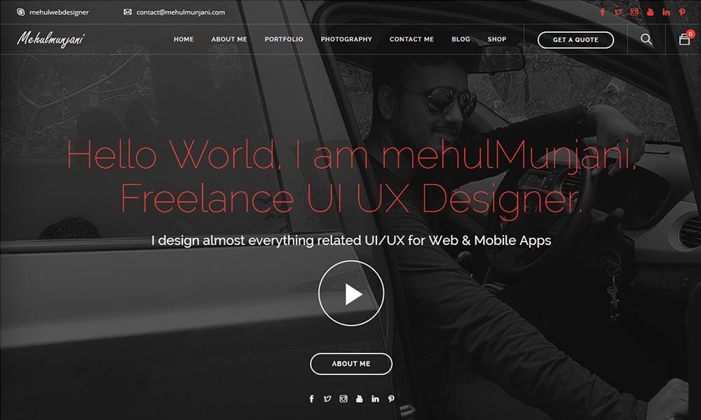 Mehul Munjani UI UX Designer