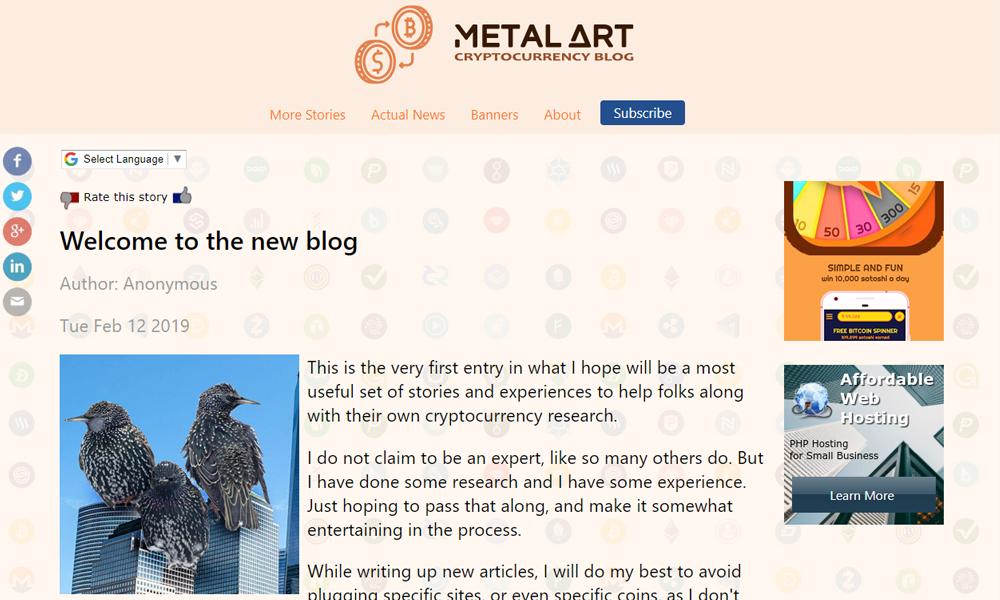 Metal Art Cryptocurrency Blog