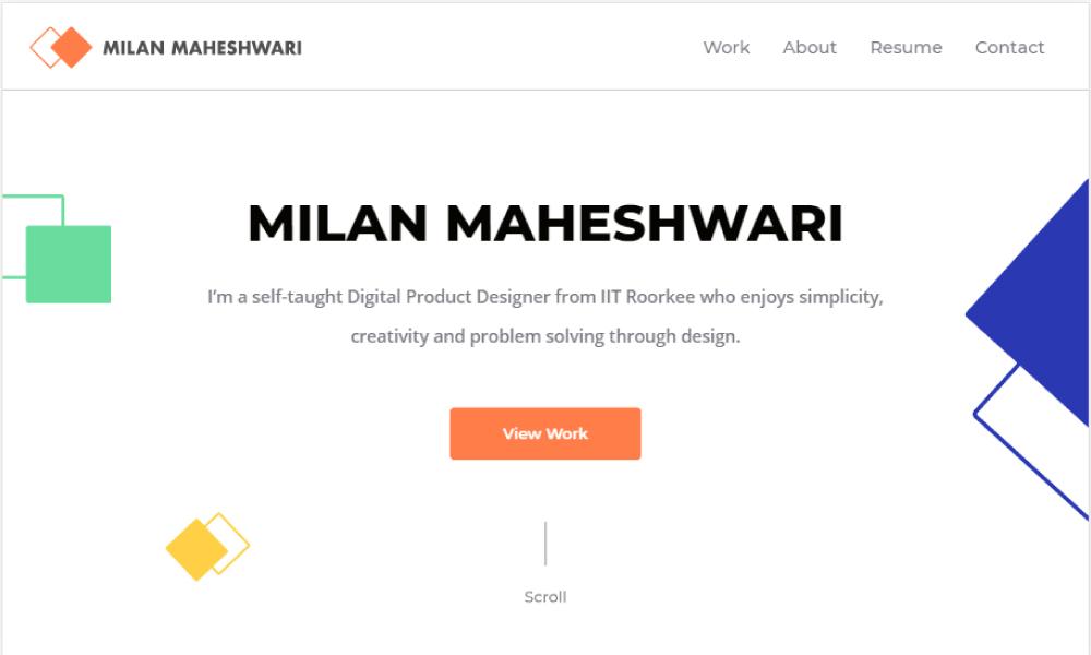 Milan Maheshwari - Portfolio