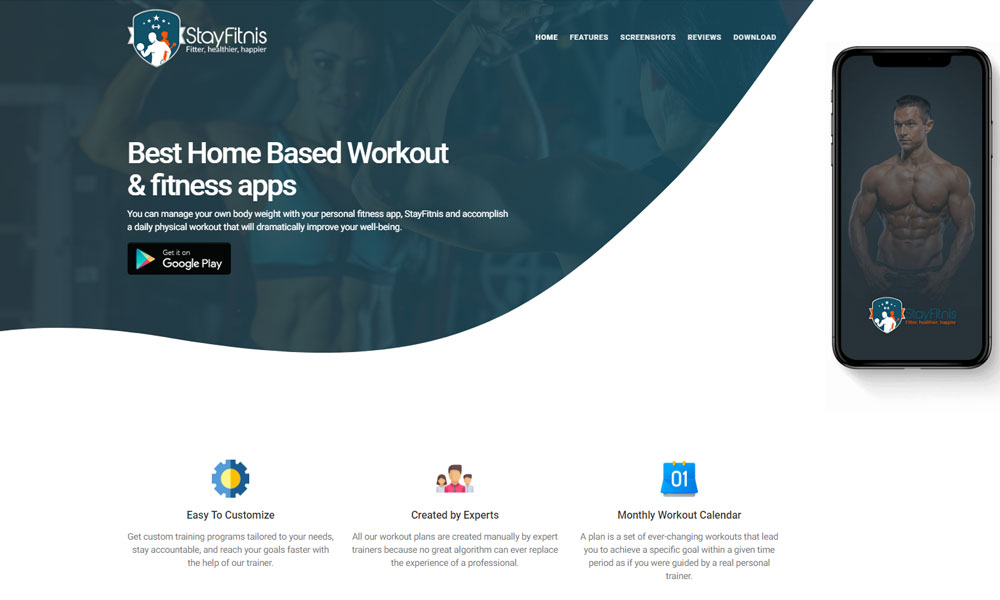 StayFitnis - Best Home Based Workout & fitness apps