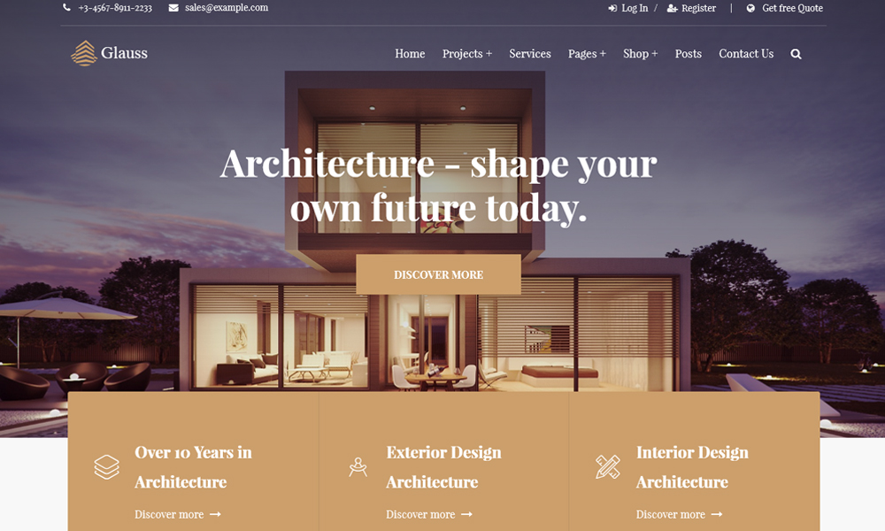 Glauss - Architecture WordPress Theme