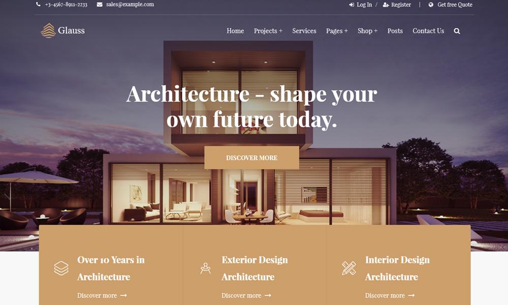 Glauss - Architecture WordPress Theme
