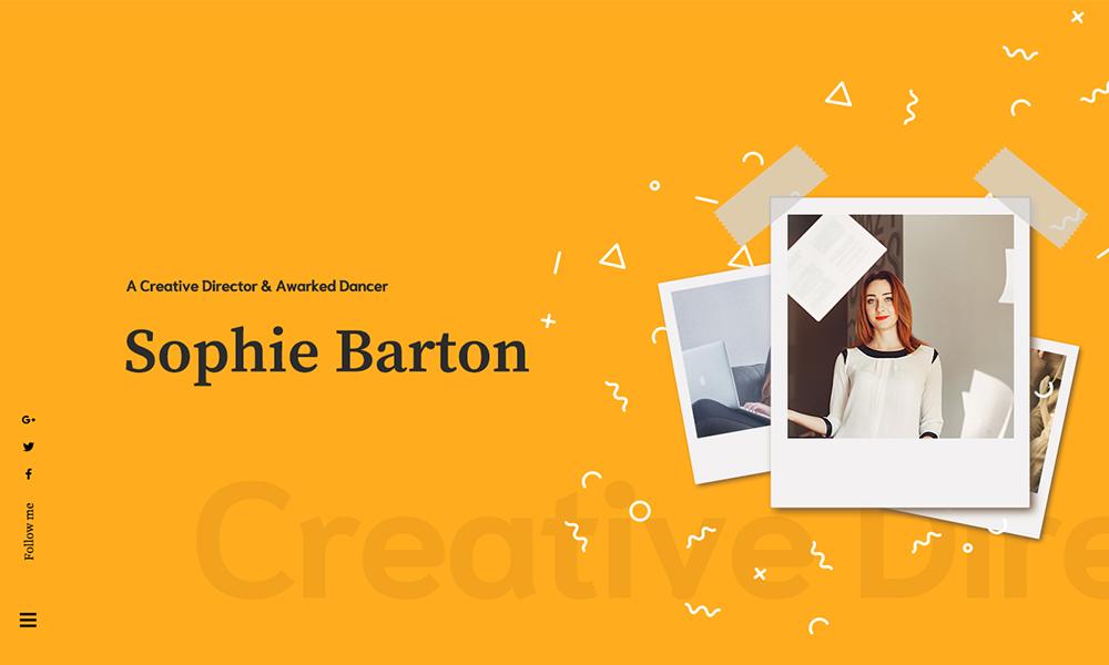 Sopphie - Creative Responsive Personal WordPress Theme