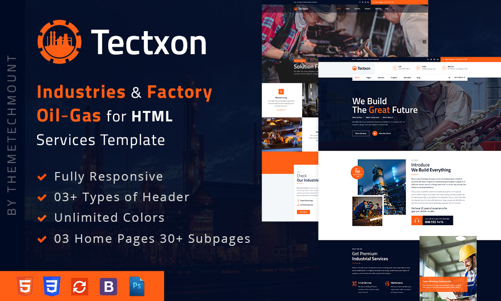 Tectxon - Industry & Factory HTML5 Template