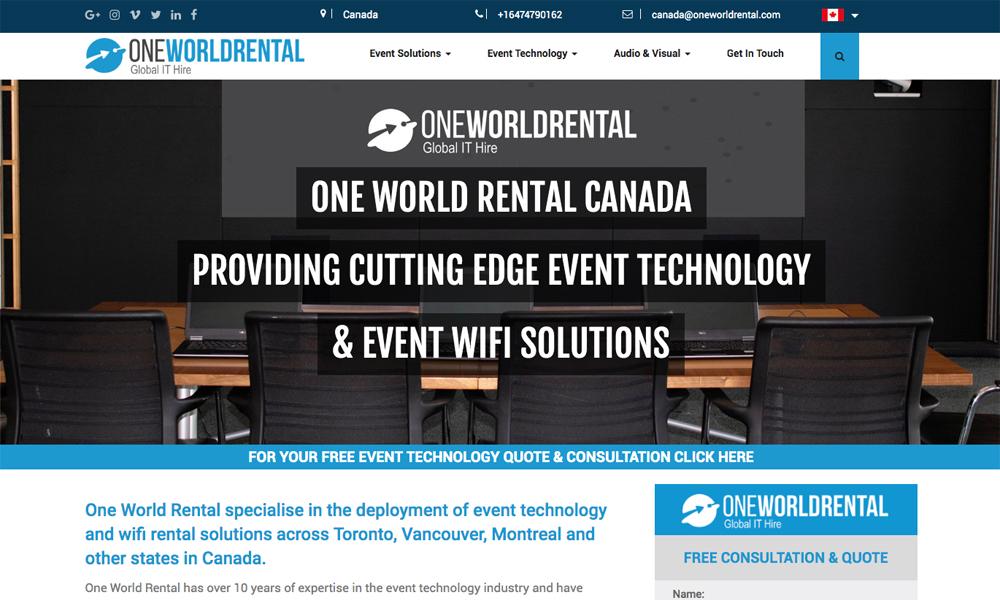One World Rental Canada