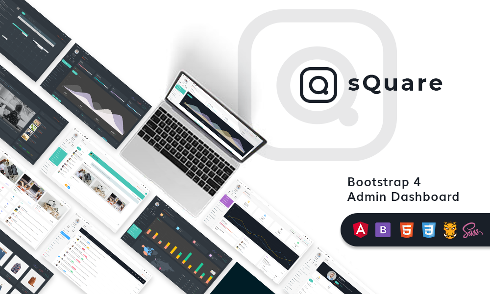 sQuare - Bootstrap 4 Admin Dashboard Template
