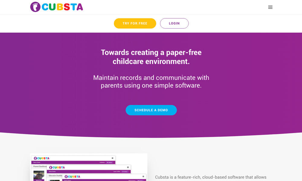Cubsta | Childcare Software