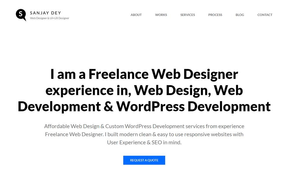 Sanjay Dey - Freelance Web Designer