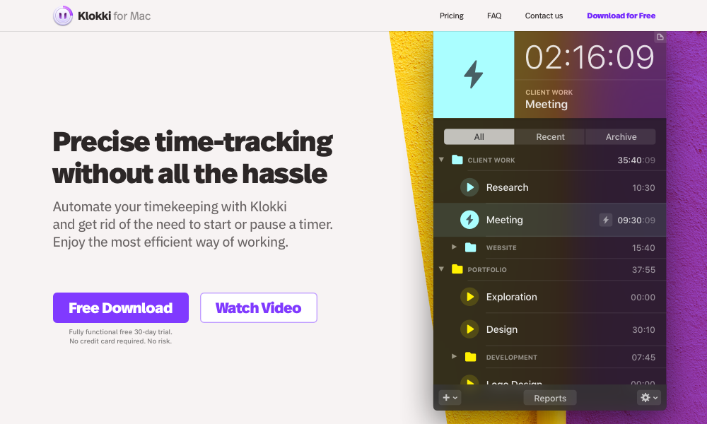Klokki — Rule-based Automatic Time Tracking